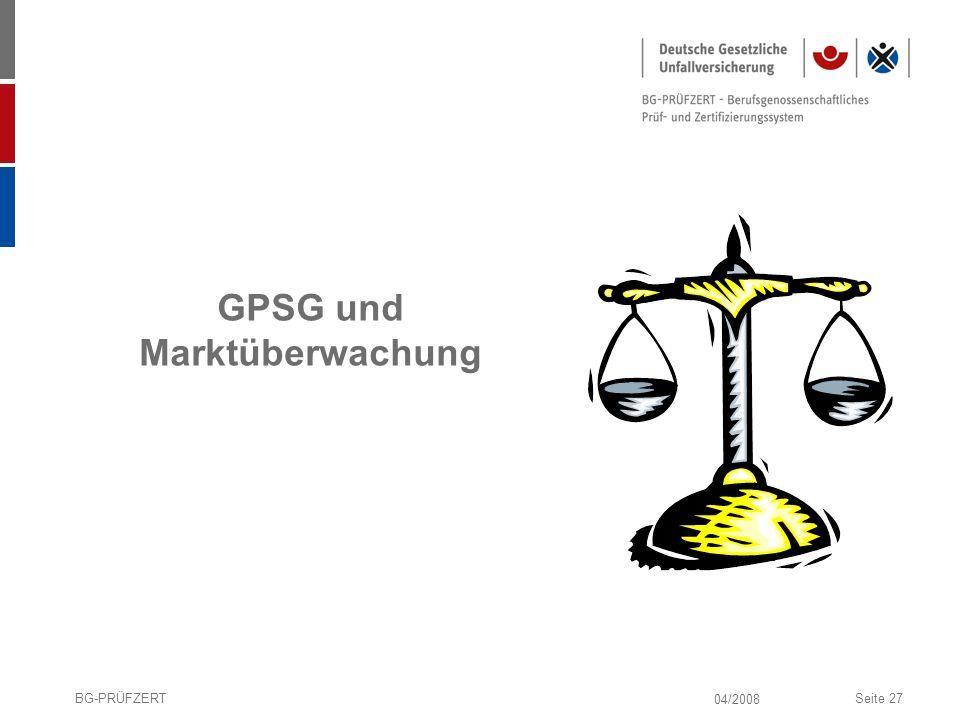 GPSG und Marktüberwachung