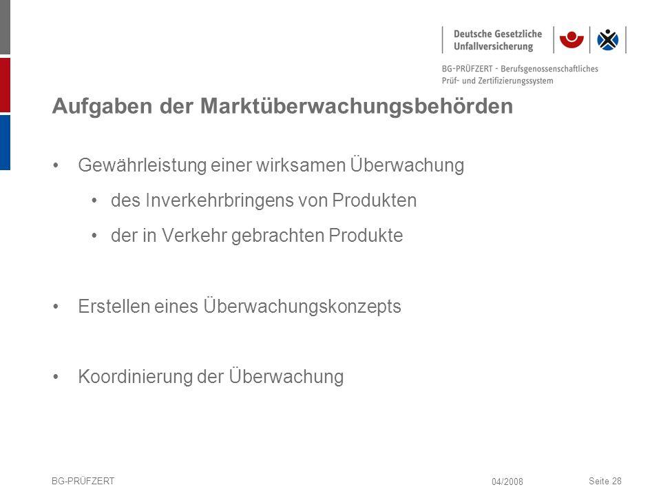 Aufgaben der Marktüberwachungsbehörden