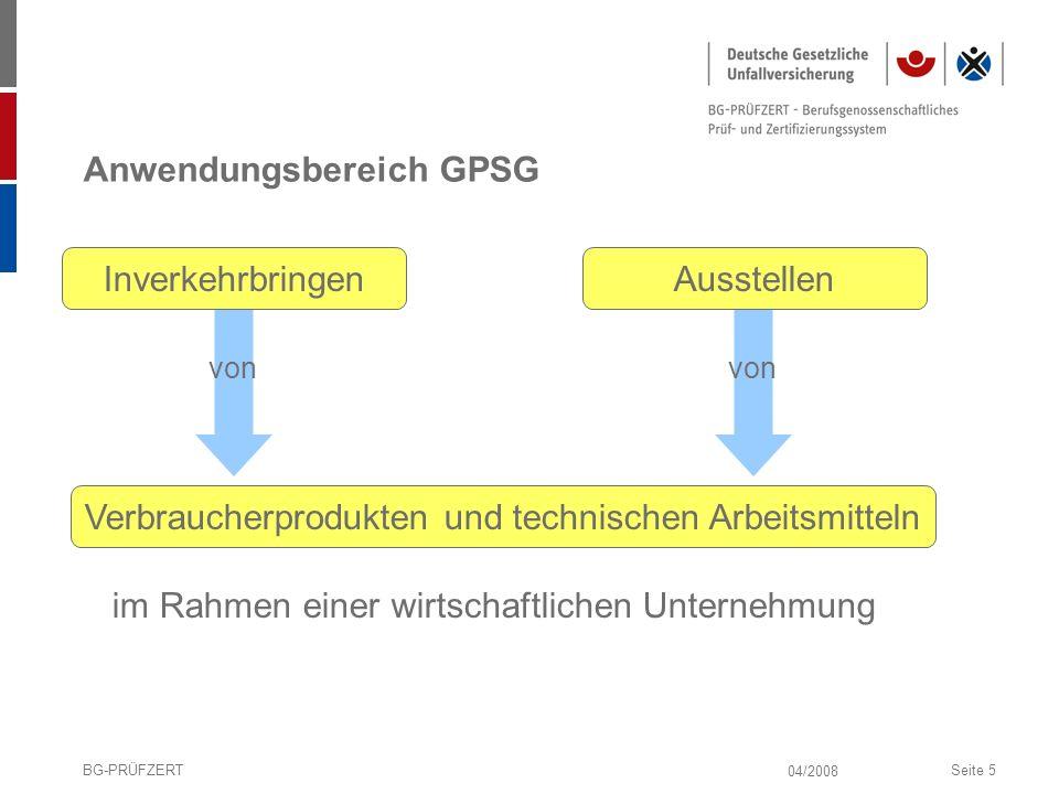 Anwendungsbereich GPSG