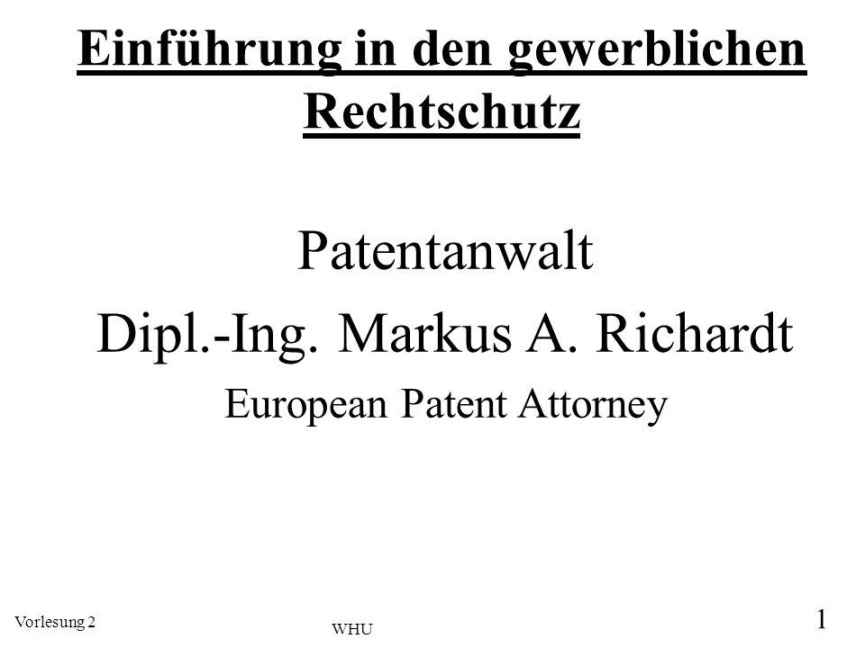 Einführung in den gewerblichen Rechtschutz