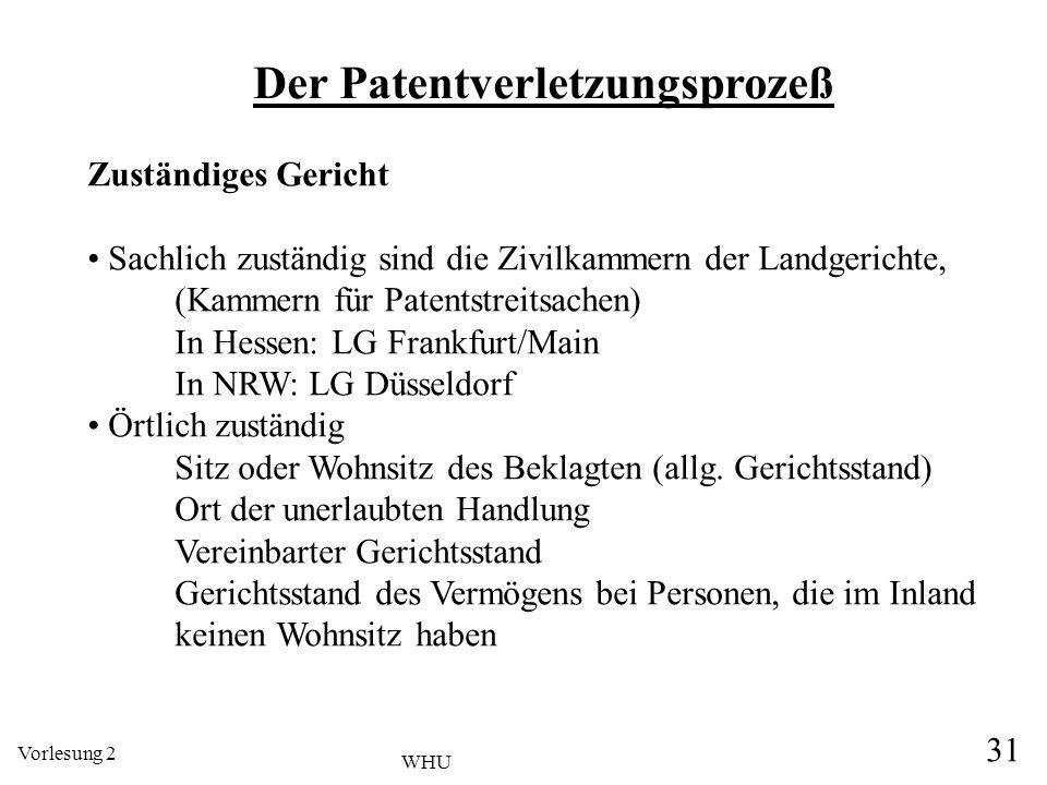 Der Patentverletzungsprozeß