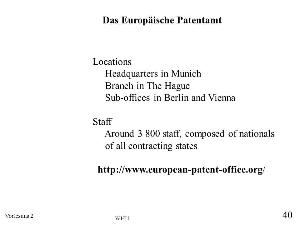 Das Europäische Patentamt