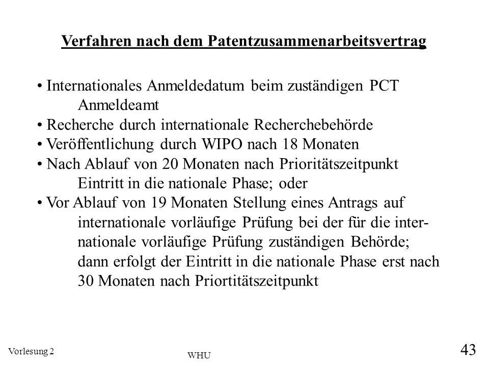 Verfahren nach dem Patentzusammenarbeitsvertrag