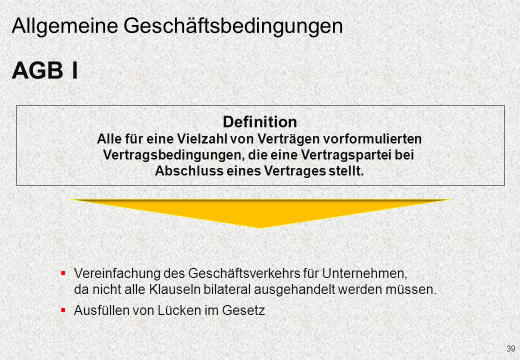 AGB I Allgemeine Geschäftsbedingungen Definition