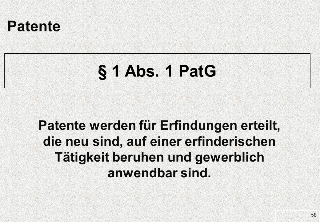 27.03.2017 Patente. § 1 Abs. 1 PatG.
