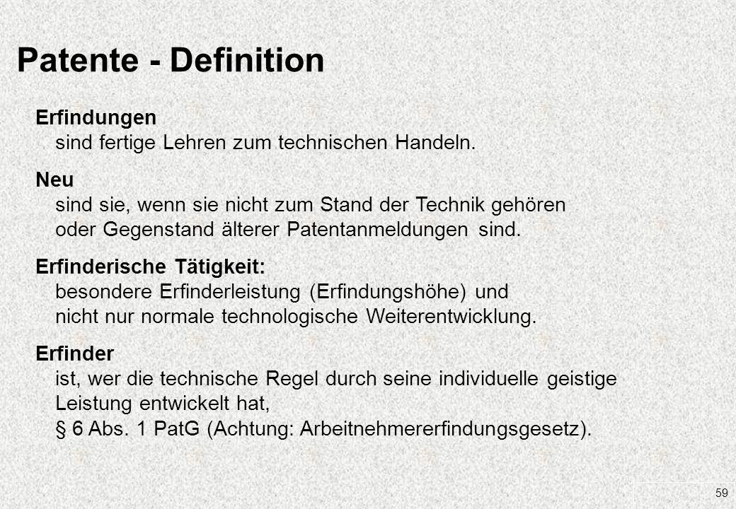 27.03.2017 Patente - Definition. Erfindungen sind fertige Lehren zum technischen Handeln.