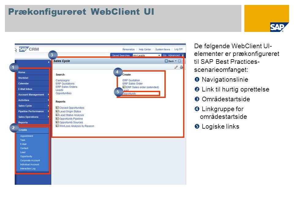 Prækonfigureret WebClient UI