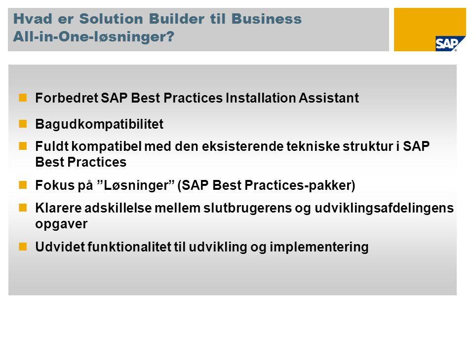 Hvad er Solution Builder til Business All-in-One-løsninger