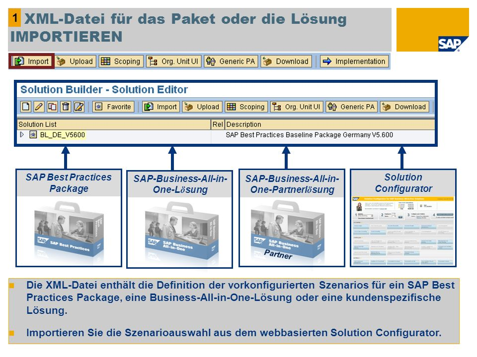 XML-Datei für das Paket oder die Lösung IMPORTIEREN