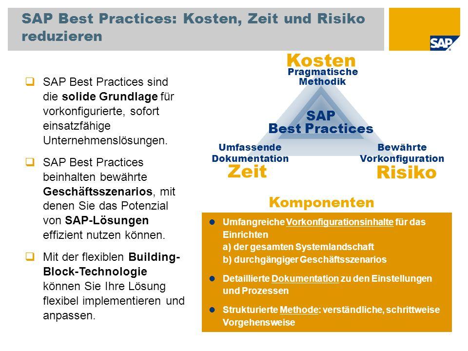 SAP Best Practices: Kosten, Zeit und Risiko reduzieren