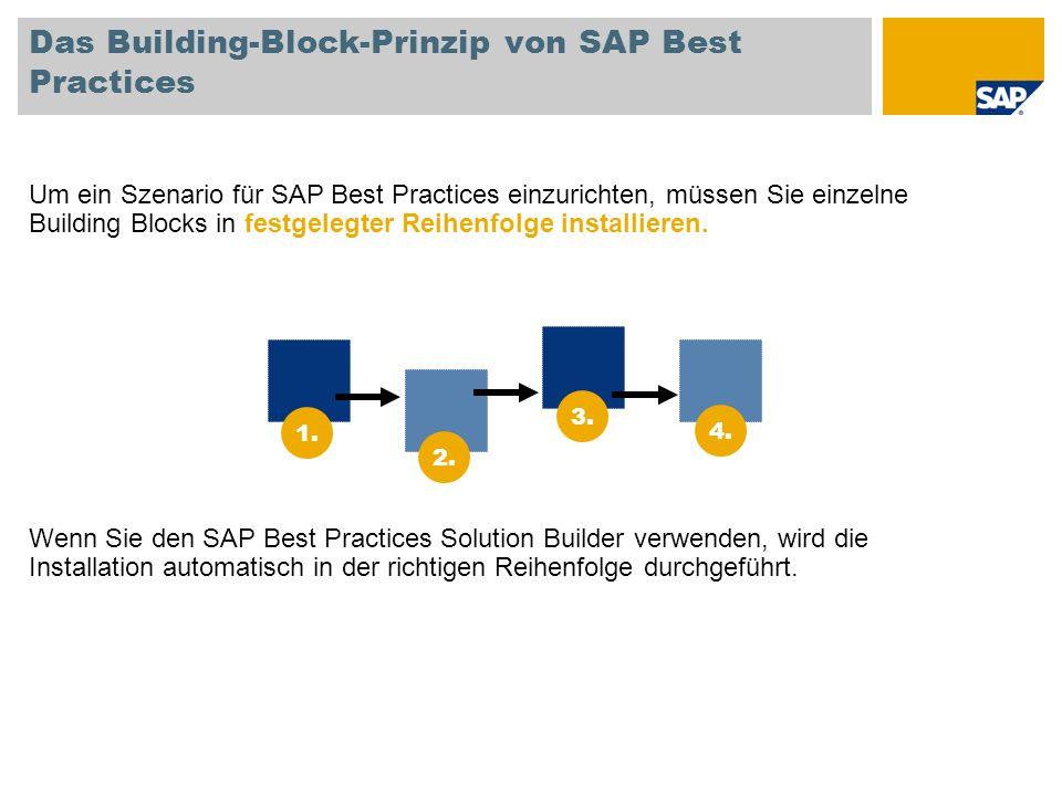 Das Building-Block-Prinzip von SAP Best Practices