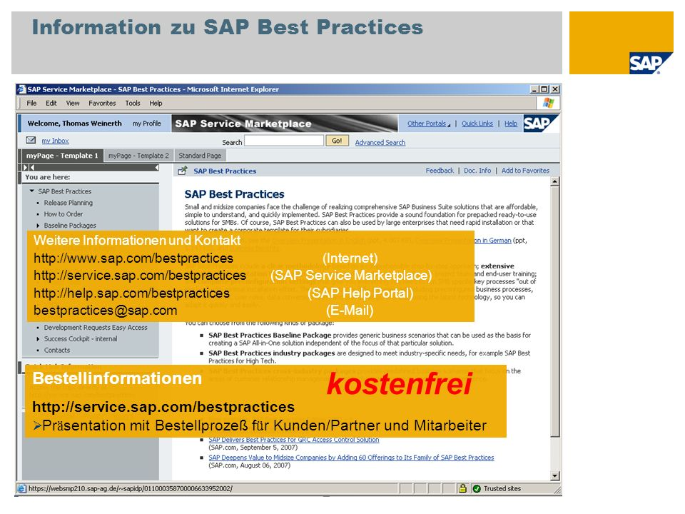 Information zu SAP Best Practices