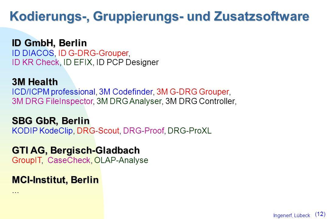Kodierungs-, Gruppierungs- und Zusatzsoftware