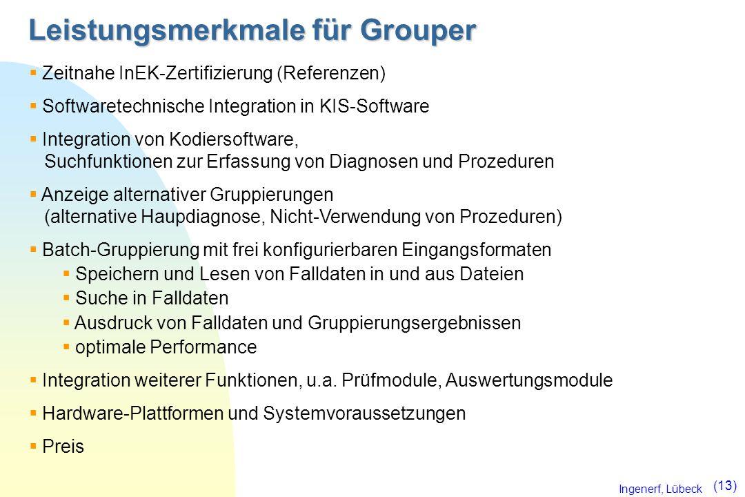 Leistungsmerkmale für Grouper