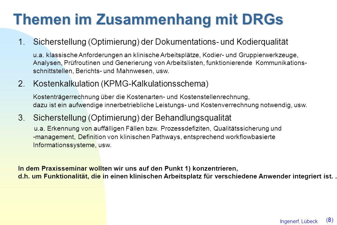 Themen im Zusammenhang mit DRGs