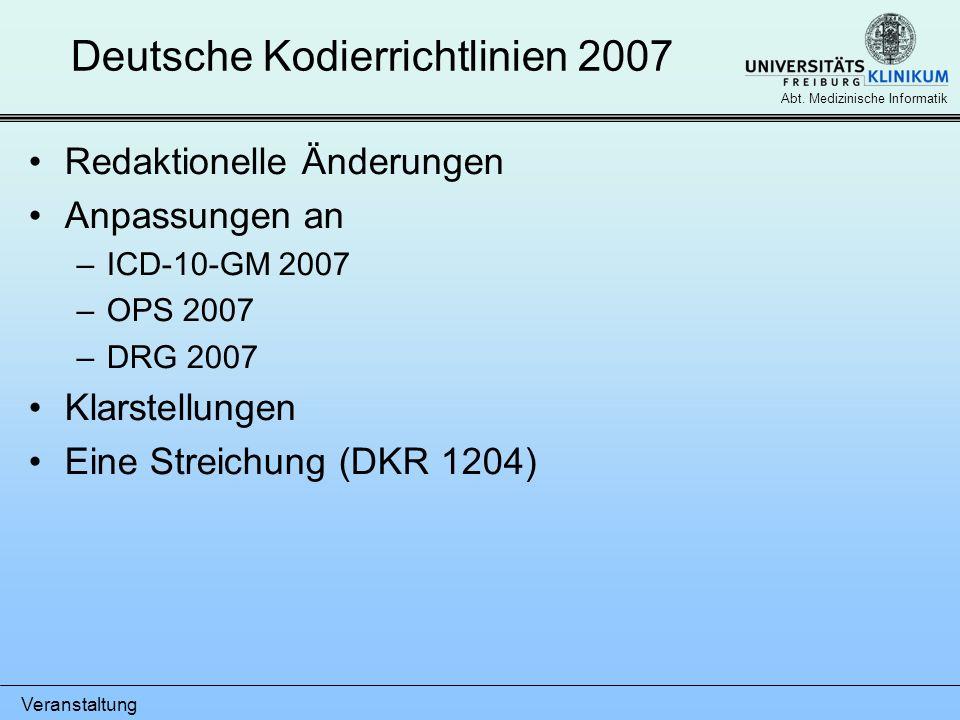 Deutsche Kodierrichtlinien 2007