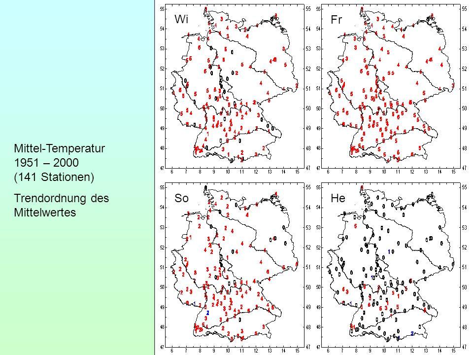 Wi Fr Mittel-Temperatur 1951 – 2000 (141 Stationen) Trendordnung des Mittelwertes So He