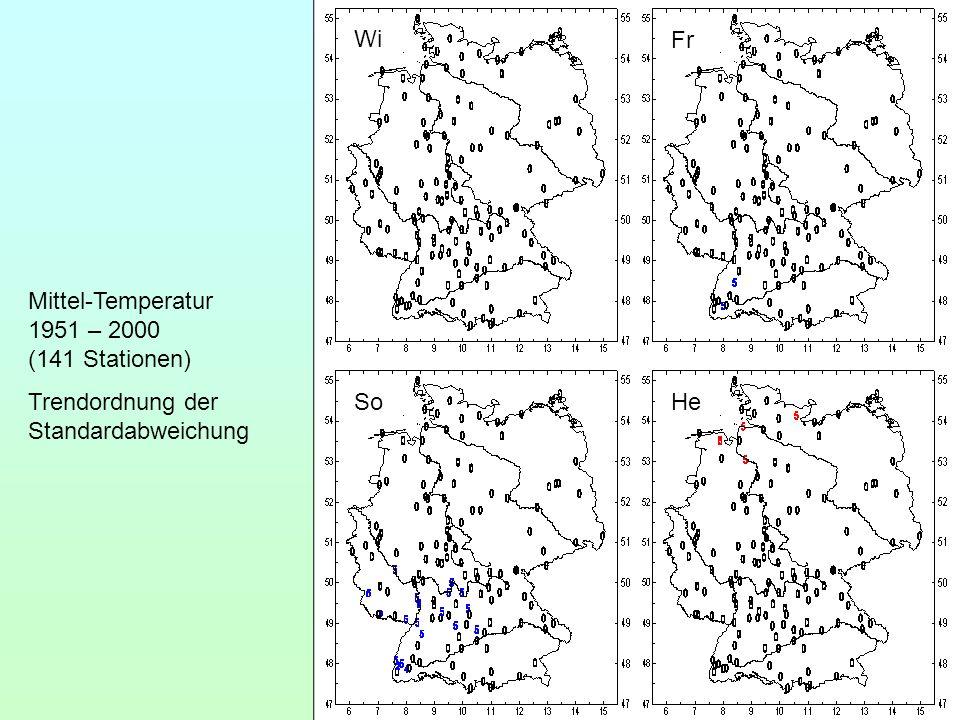 Wi Fr. Mittel-Temperatur 1951 – 2000 (141 Stationen) Trendordnung der Standardabweichung.