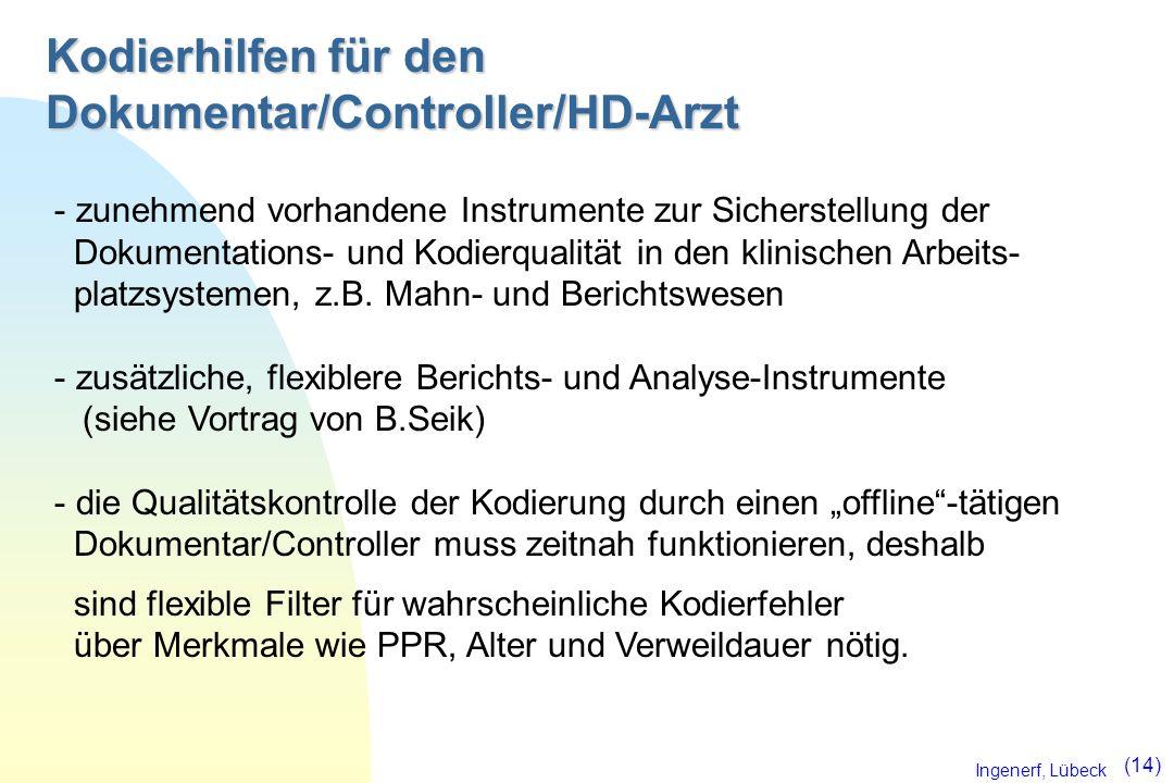 Kodierhilfen für den Dokumentar/Controller/HD-Arzt