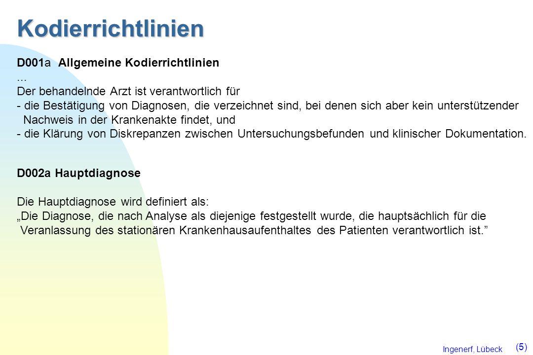 Kodierrichtlinien D001a Allgemeine Kodierrichtlinien ...