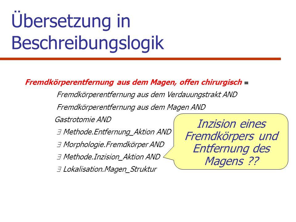 Übersetzung in Beschreibungslogik