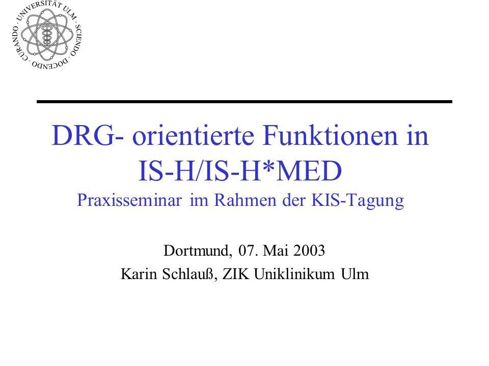Dortmund, 07. Mai 2003 Karin Schlauß, ZIK Uniklinikum Ulm