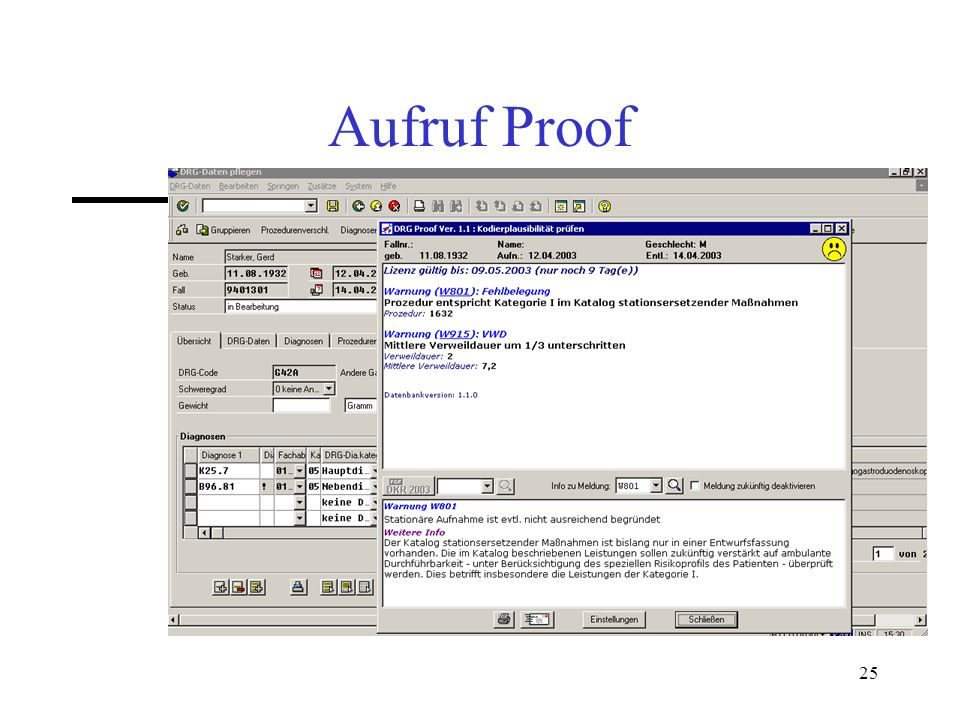 Aufruf Proof