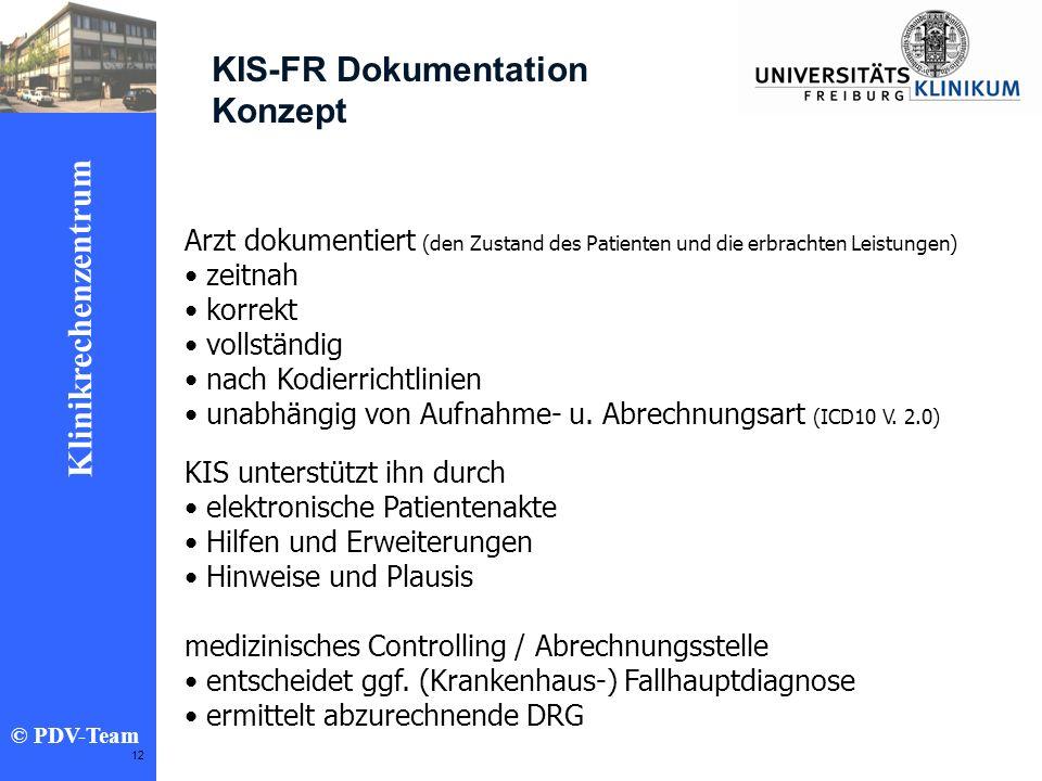 KIS-FR Dokumentation Konzept