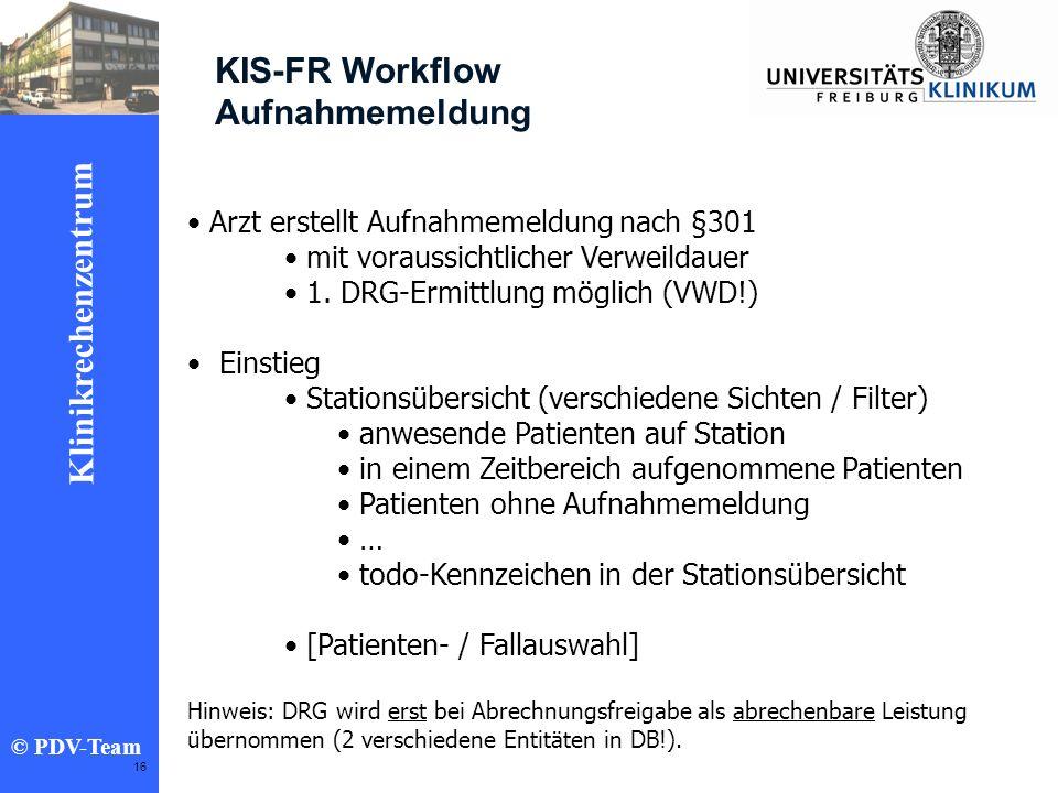 KIS-FR Workflow Aufnahmemeldung