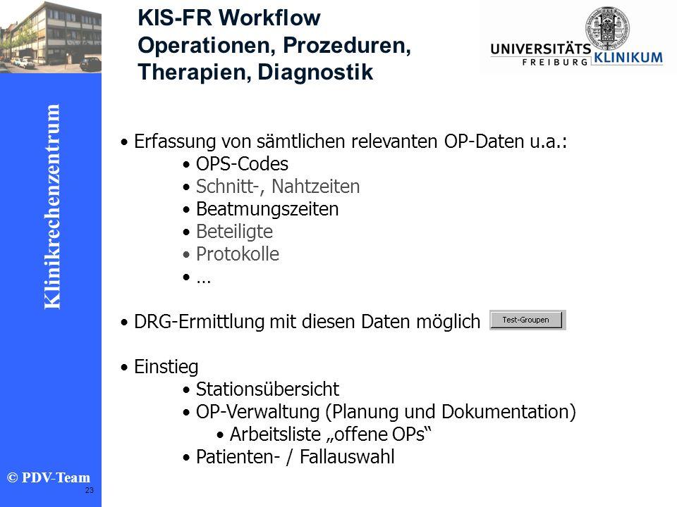 Operationen, Prozeduren, Therapien, Diagnostik