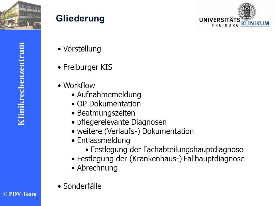 Gliederung Vorstellung Freiburger KIS Workflow Aufnahmemeldung