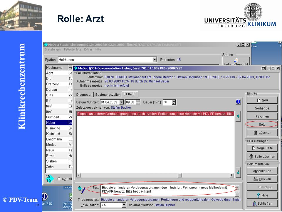 Rolle: Arzt