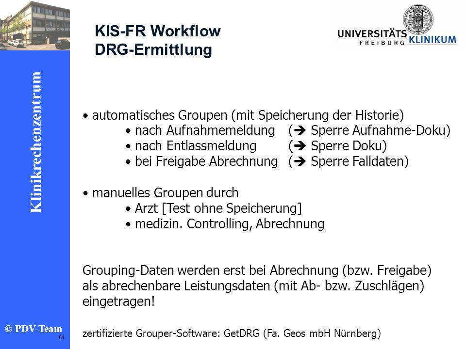 KIS-FR Workflow DRG-Ermittlung
