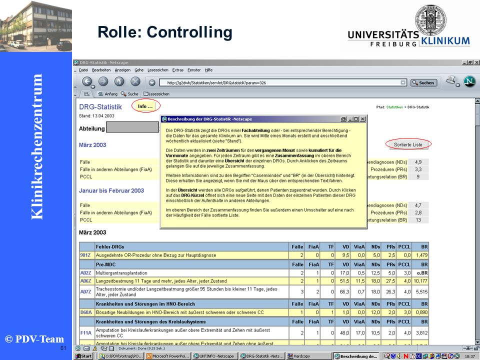Rolle: Controlling