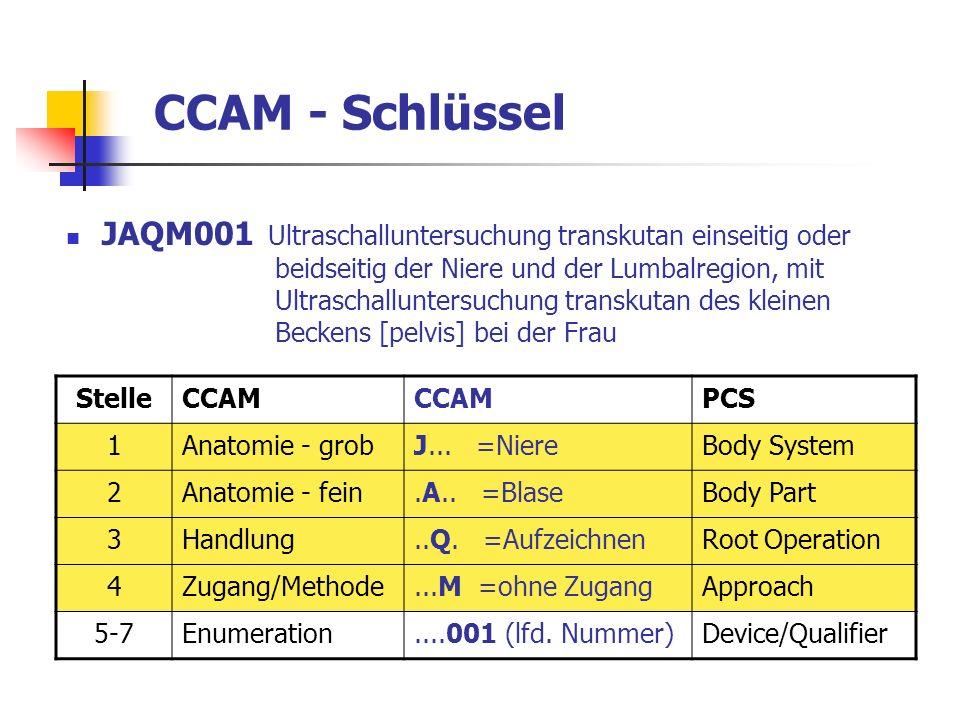 CCAM - Schlüssel