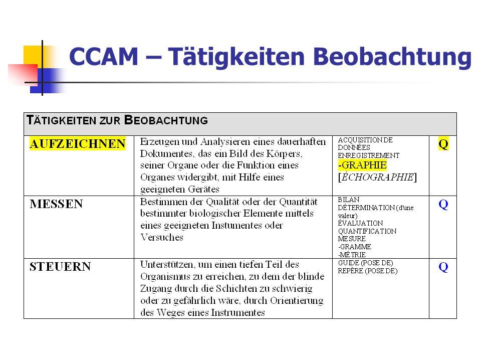 CCAM – Tätigkeiten Beobachtung