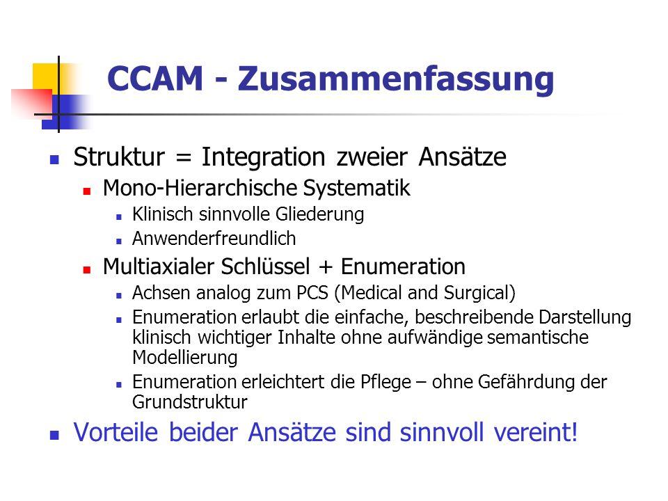 CCAM - Zusammenfassung