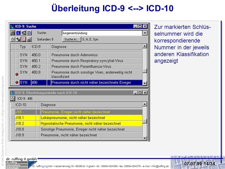 Überleitung ICD-9 <--> ICD-10