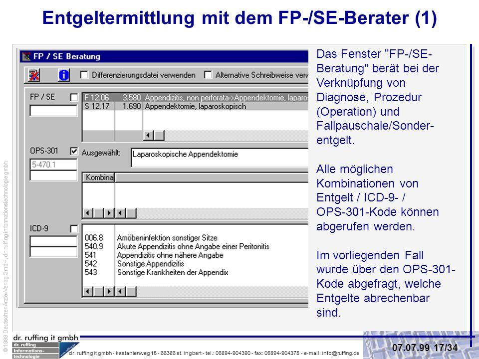 Entgeltermittlung mit dem FP-/SE-Berater (1)