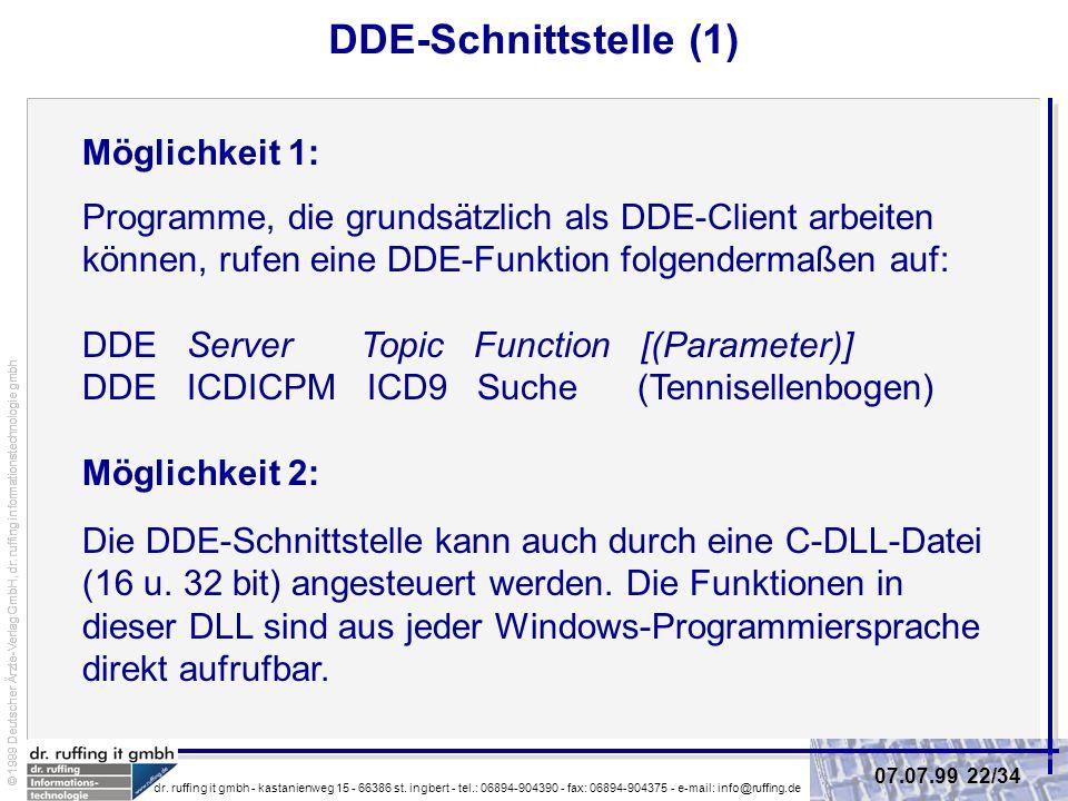 DDE-Schnittstelle (1) Möglichkeit 1: