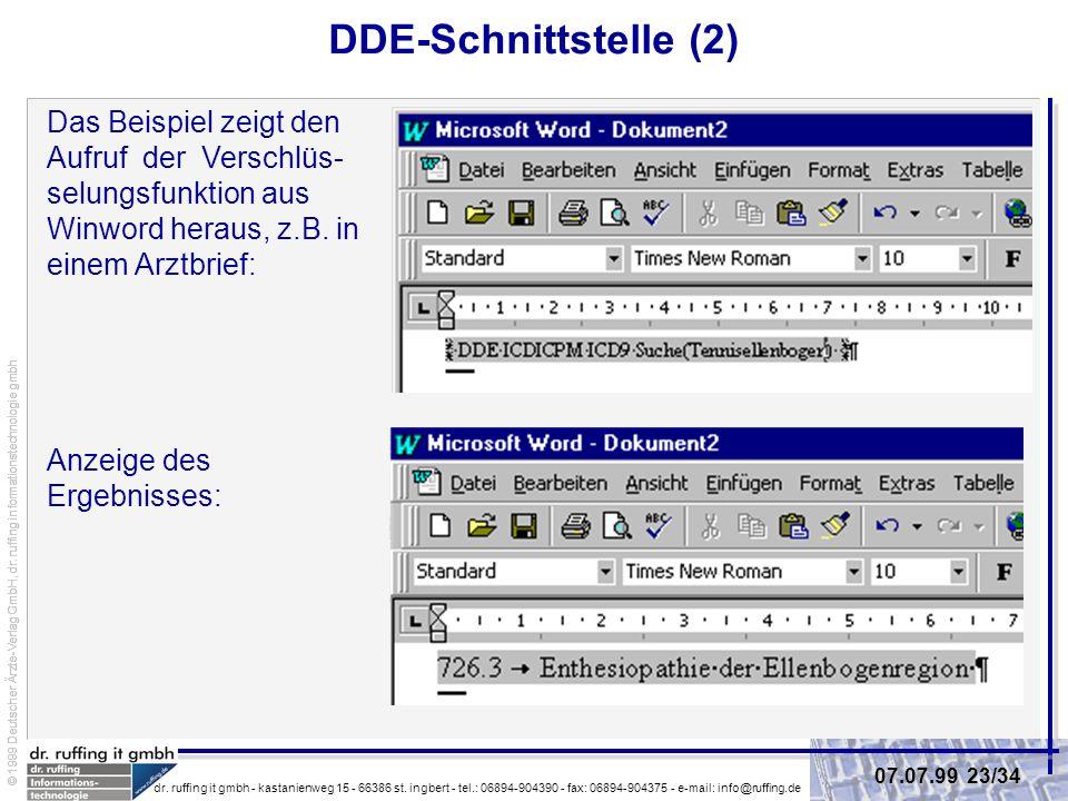 DDE-Schnittstelle (2)