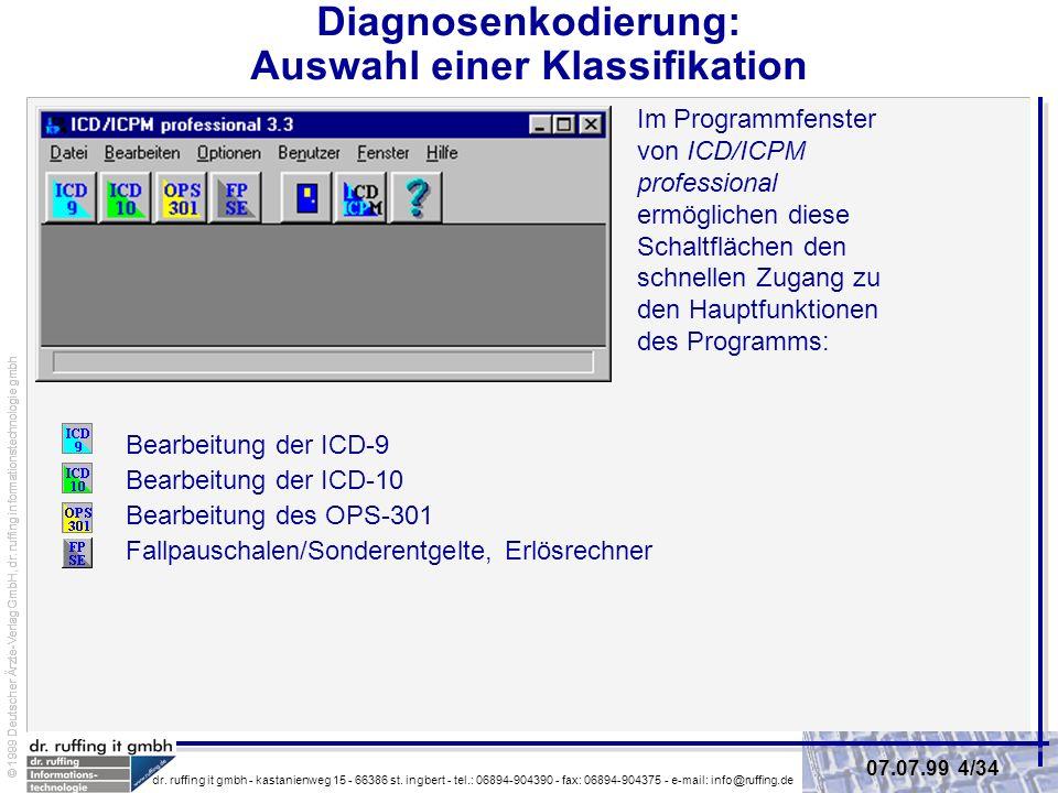 Diagnosenkodierung: Auswahl einer Klassifikation