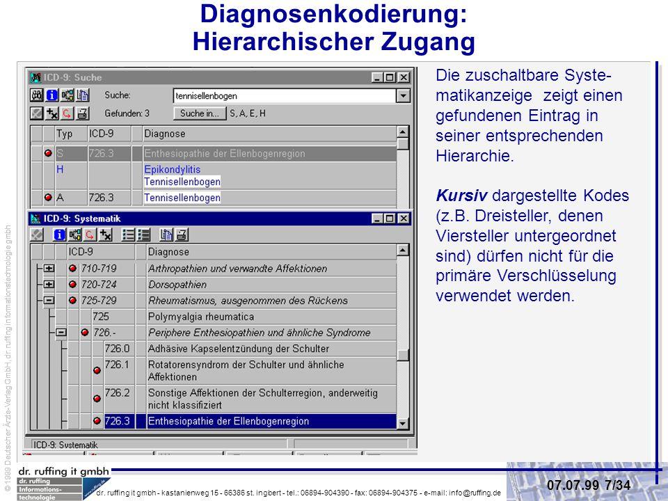 Diagnosenkodierung: Hierarchischer Zugang