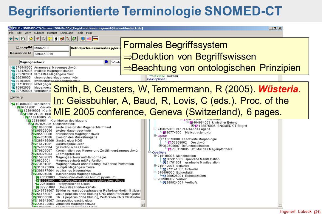 Begriffsorientierte Terminologie SNOMED-CT