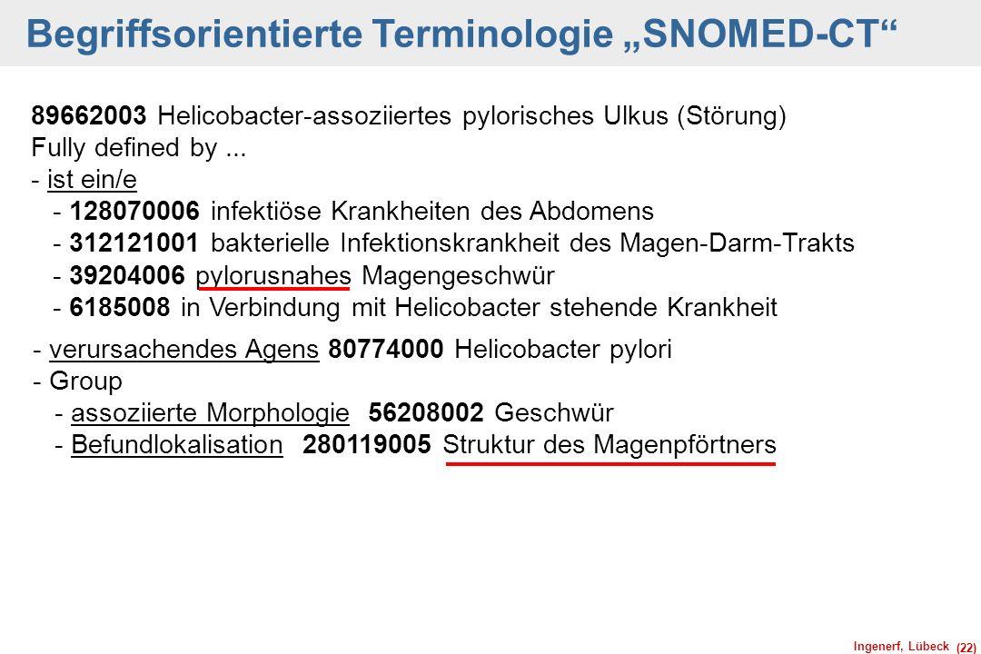 """Begriffsorientierte Terminologie """"SNOMED-CT"""