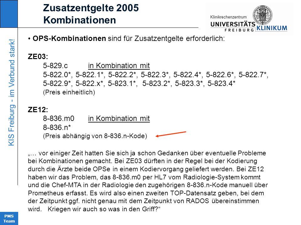 Zusatzentgelte 2005 Kombinationen