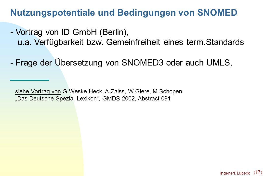 Nutzungspotentiale und Bedingungen von SNOMED