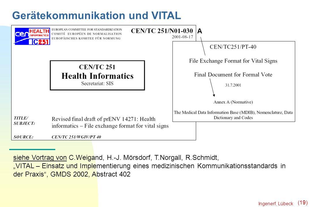 Gerätekommunikation und VITAL