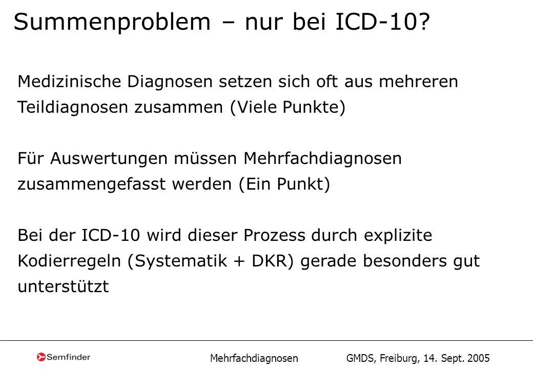Summenproblem – nur bei ICD-10