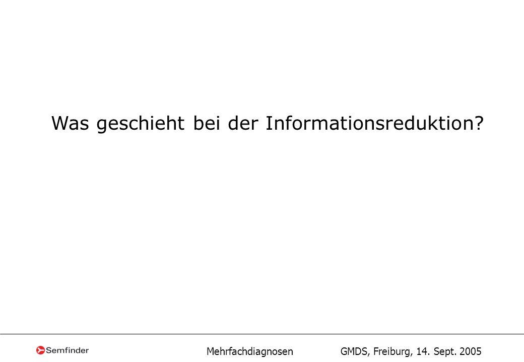 Was geschieht bei der Informationsreduktion